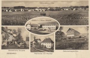 AK Geisenried Marktoberdorf Allgäu Gasthof Stockerr Brauerei 1939