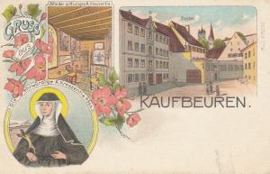 AK Kaufbeuren Kreszentia Höss Zelle Kloster Litho ungelaufen 1910