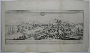 Bad Kreuznach Gesamtansicht Orig Kupferstich Merian 1650 Belagerung 1641