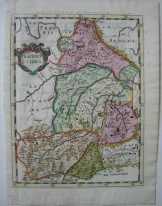 Bayern und Tirol altkolor Kupferstich Philippe Briet 1648