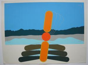 Ernst Neukamp (1937-2006) Abstrakte Komposition Orig Serigrafie 1972 signiert