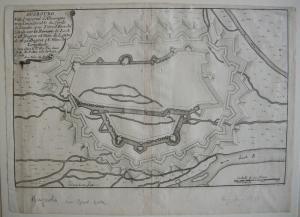 Augsburg Befestigung Grundriss Orig Kupferstich Nicolas de Fer 1688 Schwaben