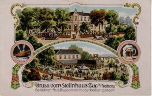 Ak Freiberg Zug Stollnhaus Fablitho Jugendstil Sachsen ungel 1910