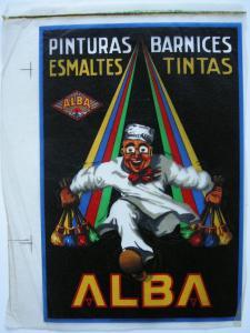 ALBA Pinturas Barnices Esmaltes Tintas Probedruck 1930 Reklame Publicidad