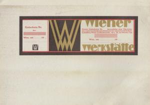 Wiener Werkstätte Gutschein Blankoformular Lithografie um 1905