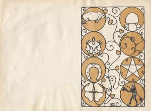 Carl Otto Czeschka (1878-1960) Neujahr Glücksbringer Orig Lithografie 1910