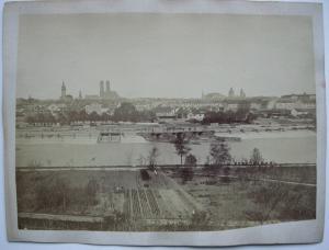 München Gesamtansicht von Osten Fotografie Albumin 1900