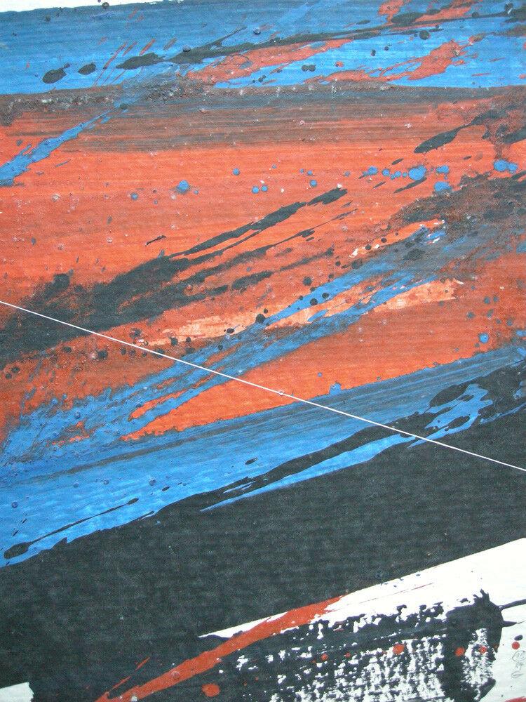 Jürgen Reipka (1921-2014) Geometrische Komposition Rot Blau Schwarz Acryl 1984 1