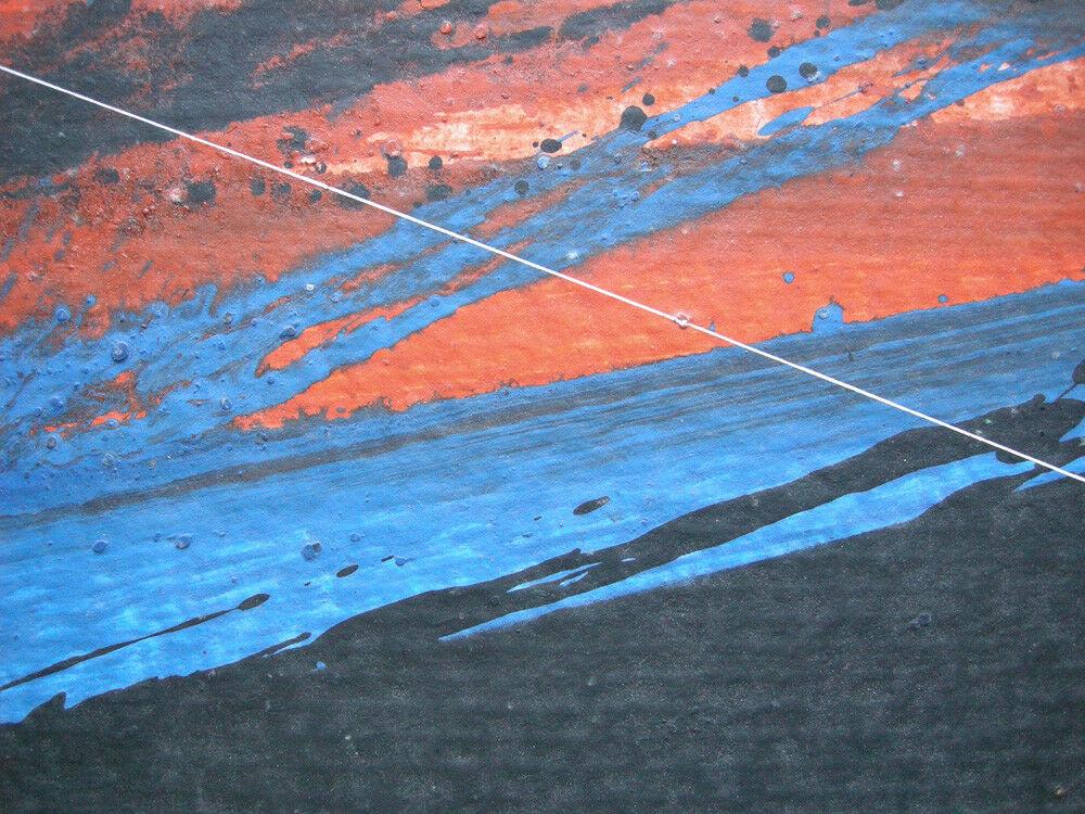 Jürgen Reipka (1921-2014) Geometrische Komposition Rot Blau Schwarz Acryl 1984 2