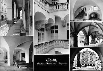 Ansichtskarte, Görlitz, sechs Abb., Lauben, Hallen u. Umgänge 1977
