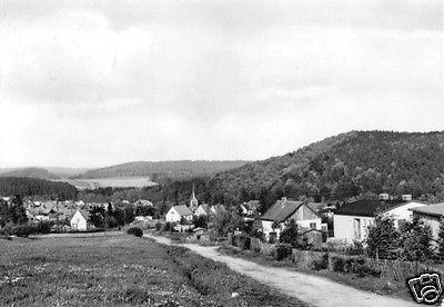 Ansichtskarte, Güntersberge Harz, Teilansicht, 1995