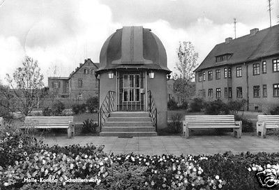 Ansichtskarte, Halle - Kamena, Schulsternwarte, 1965