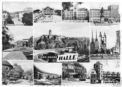 Ansichtskarte, Halle Saale, 11 Abb., 1961
