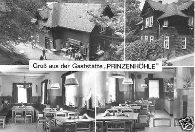 Ansichtskarte, Hartenstein Erzgeb., Gastst. Forsthaus Prinzenhöhle