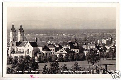 Ansichtskarte, Amstetten Niederdonau, Teilansicht 1, 1940