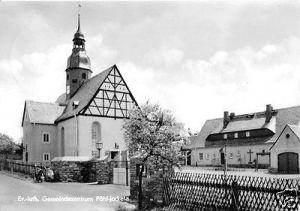 Ansichtskarte, Pöhl - Jocketa Vogtl., Ev.-luth. Gemeindezentrum