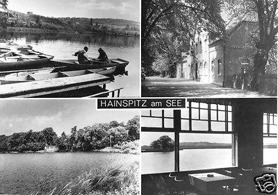Ansichtskarte, Hainspitz am See, Konsum-Gaststätte, vier Abb., 1970