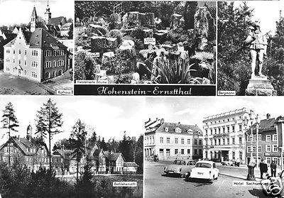 Ansichtskarte, Hohenstein-Ernstthal, fünf Abb., 1980