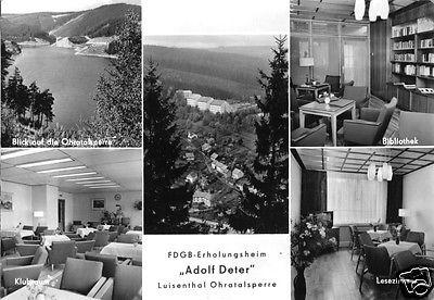 Ansichtskarte, Luisenthal Thür. Wald, Ohra-Talsperre, FDGB-Heim