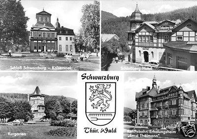 Ansichtskarte, Schwarzburg Thür. Wald, vier Abb., 1977