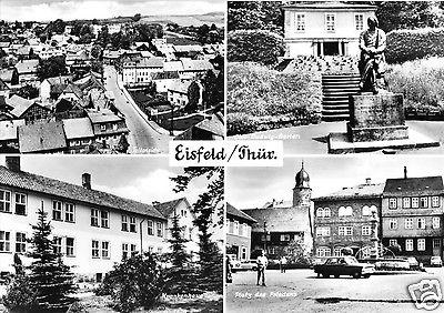 Ansichtskarte, Eisfeld Kr. Hildburghausen, vier Abb., 1974