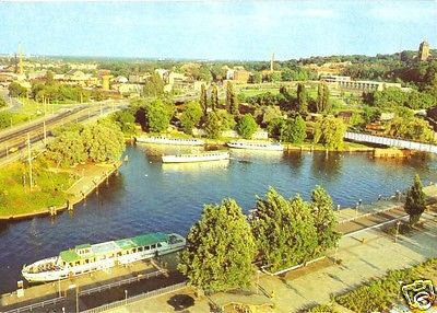 Ansichtskarte, Potsdam, Blick in das Hafenbecken der Weißen Flotte, 1984