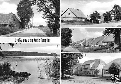 Ansichtskarte, Grüße aus dem Kreis Templin, fünf Abb., 1983