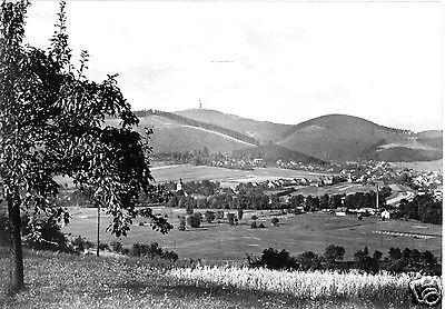 Ansichtskarte, Tabarz - Cabarz Thür., Totale mit Blick zum Inselsberg, 1966