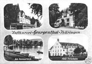 Ansichtskarte, Georgenthal Thür., vier Abb., 1967