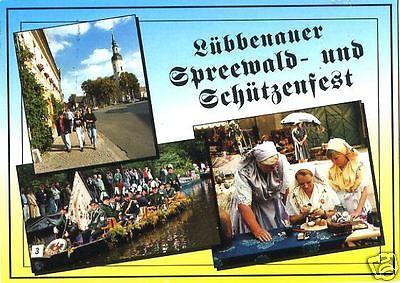 Ansichtskarte, Lübbenau, Spreewald- und Schützenfest, ca. 1996