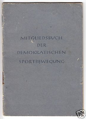 Mitgliedsbuch d. Demokratischen Sportbewegung, SV