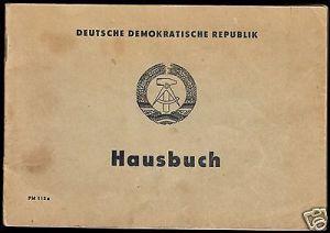 Hausbuch mit zahlreichen Eintragungen, Berlin Mahlsdorf, Waldowstr. 19, 1975 0