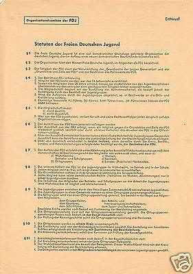 Delegiertenmappe zum 1. Parlament der FDJ, Brandenburg (Havel), 8.-10.Juni 1946 1