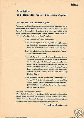 Delegiertenmappe zum 1. Parlament der FDJ, Brandenburg (Havel), 8.-10.Juni 1946 2
