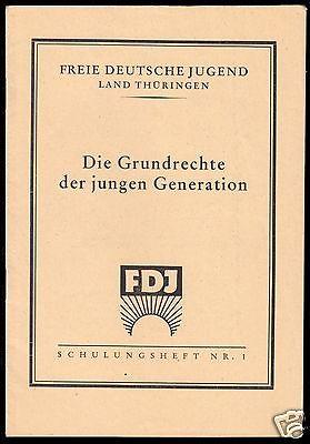 Delegiertenmappe zum 1. Parlament der FDJ, Brandenburg (Havel), 8.-10.Juni 1946 3