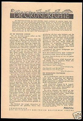 Delegiertenmappe zum 1. Parlament der FDJ, Brandenburg (Havel), 8.-10.Juni 1946 4