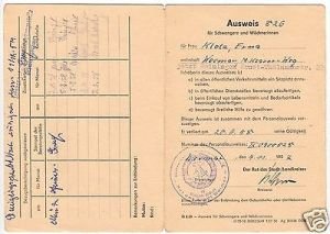 Ausweis für Schwangere und Wöchnerinnen, Weimar 1957, Stillbescheinigung 1958 0