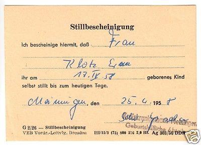 Ausweis für Schwangere und Wöchnerinnen, Weimar 1957, Stillbescheinigung 1958 2