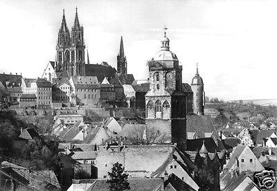 Ansichtskarte, Meißen, Blick über die Dächer der Altstadt vom Turm der Frauenkirche, 1986