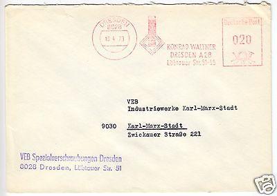 AFS, Fa. Konrad Walther, Dresden A 28...., o Dresden, 8028, 18.4.73