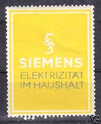 Vignette, Werbemarke, Siemens, Elektrizität im Haushalt