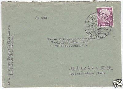 Bedarfspostbrief, BRD Michel 188x, EF, o (20a) Bispingen, 1.10.56