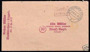 Gebühr-bezahlt-Beleg, o. Waldkirchen (Erzgeb), 12.10.45