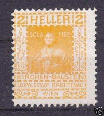 Vignette, Spendenmarke, Kirchen-Baustein, Leopoldstadt Brigittenau, Wien (1)