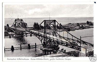 Ansichtskarte, Wilhelmshaven, Kaiser-Wilhelm-Brücke, 1960