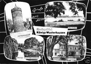 Ansichtskarte, Kreisgebiet Königs Wusterhausen, vier Abb., gestaltet, 1965