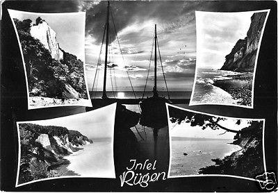 Ansichtskarte, Insel Rügen, Stimmungskarte, vier Steiluferabb.
