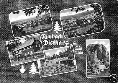 Ansichtskarte, Tambach-Dietharz Thür. Wald, fünf Abb., gestaltet, 1966