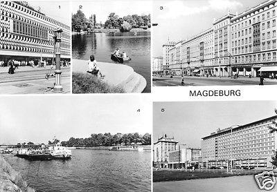 Ansichtskarte, Magdeburg, fünf Abb., 1981