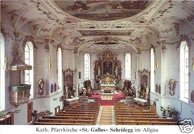 Ansichtskarte, Scheidegg Allgäu, Kath. Pfarrkirche